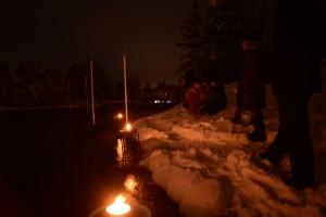 Falu kanotklubb Luciatåg i fors