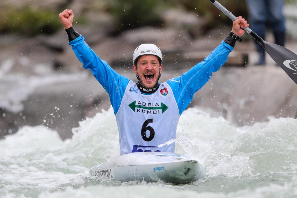Isak vinner världscupen i Slovenien K1 Herrar, 17 oktober 2020.